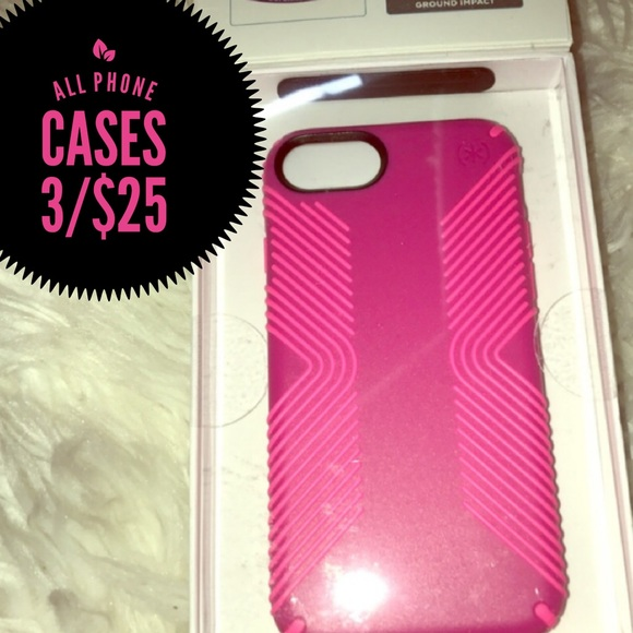 new concept 540b9 88833 iPhone 7/ 8 Speck case hot pink NWT